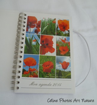 Agenda de poche coquelicot de Céline Photos Art Nature