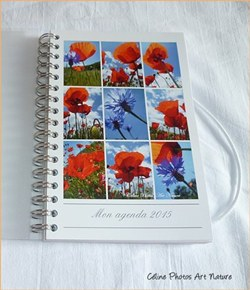 Agenda de poche 2015 de Céline Photos Art Nature coquelicot