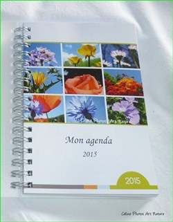 Agenda de poche 2015 de Céline Photos Art Nature