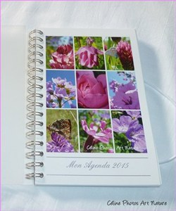 Agenda de poche 2015 de Céline Photos Art Nature rose