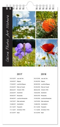 Calendrier 2017 cuisine de Céline Photos Art Nature
