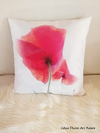 Coussin recto verso de Céline Photos Art Nature