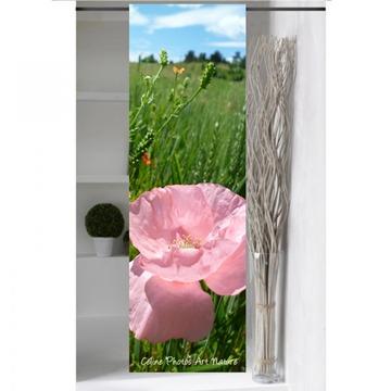 Panneau japonais Coquelicot rose de Céline Photos Art Nature grand format