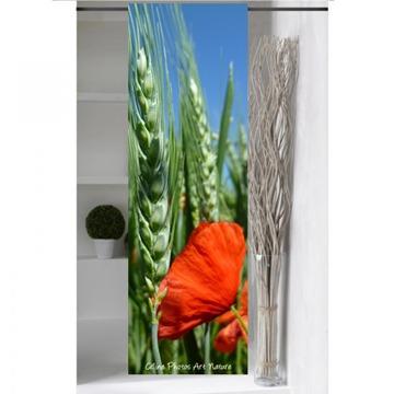 Panneau japonais blé et Coquelicot de Céline Photos Art Nature grand format