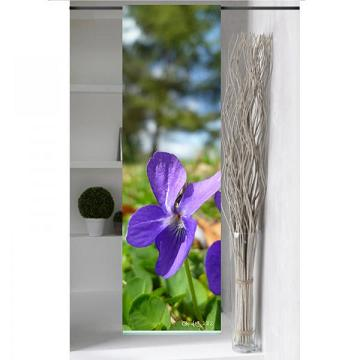 panneau japonais violettes