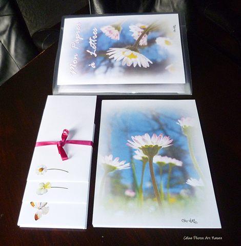 Papier à lettres Pâquerettes de Céline Photos Art Nature