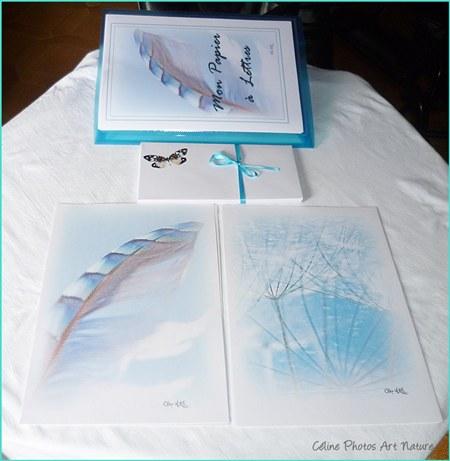 Papier à lettres Plumes de Céline Photos Art Nature