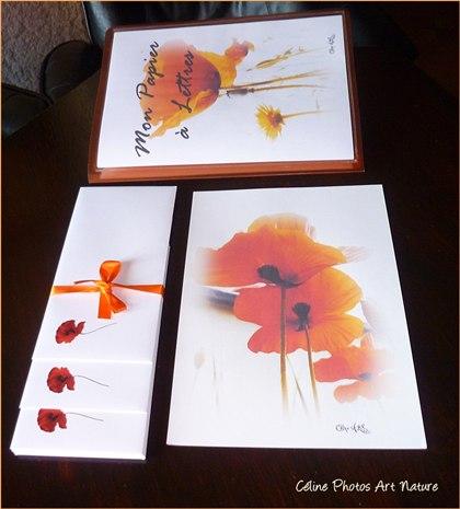 Papier à lettres Coquelicots de Céline Photos Art Nature