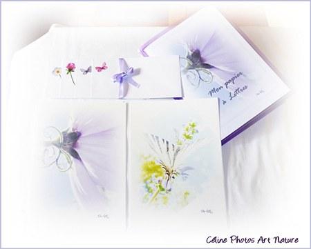 Papier à lettres violet mauve de Céline Photos Art Nature