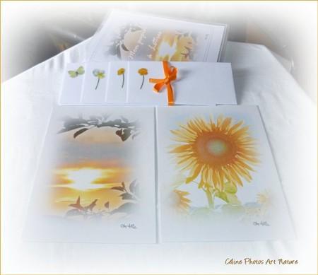 Papier à lettres soleil de Céline Photos Art Nature